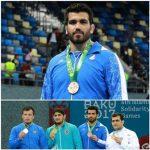 قهرمان کشتی شهرستان قدس در بازیهای همبستگی کشورهای اسلامی-باکو/مدال برنز را از آن خود کرد