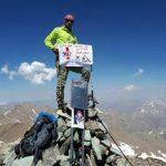 صعود موفقیت آمیز کوهنورد شهرستان قدسی به قله خلنو استان تهران
