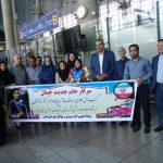 استقبال علیرضا صیفوری سرپرست اداره ورزش و جوانان از قهرمان کاراته کا شهرقدسی