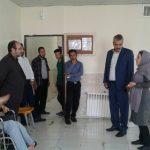 بازیدی صیفوری سرپرست اداره ورزش و جوانان شهرستان قدس از مرکز معلولین آویژه
