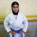 نخستین طلای کاروان ایران برگردن حدیث جمال کاراته کا شهرقدسی آویخته شد .