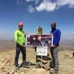 صعود موفقیت آمیز کوهنوردان شهرقدسی به قله اورین استان آذربایجان غربی