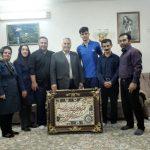 مراسم تقدیر از محمد جعفر زاده و نیما عزیز زاده والیبالیستهای قهرمان شهرقدسی در مسابقات کشوری