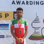 نائب قهرمانی دوچرخه سوار ارزنده شهر قدسی در مسابقات استقامت جاده قهرمانی آسیا