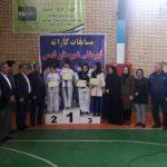 مسابقات کاراته قهرمانی دختران شهرستان قدس به مناسبت گرامیداشت دهه مبارک فجر