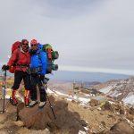 صعود موفقیت آمیز گروه کوهنوردی به بلندترین قله استان اردبیل
