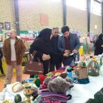 حضور ورزشکاران در نمایشگاه صنایع دستی هنرمندان و کارآفرینان