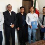رئیس هیات شنا شیرجه و واترپلو استان تهران از شناگر ارزشمند شهر قدسی تجلیل کرد