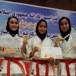 دختران کاراته کای جوان قدسی در مسابقات کشوری انتخابی تیم ملی خوش درخشیدند