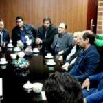 حضور محمد رضا طالقانی رییس اسبق فدراسیون کشتی در شهرستان قدس