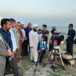 حضور امام جمعه محترم شهرستان قدس در بین گروه استهلال رویت ماه مبارک رمضان